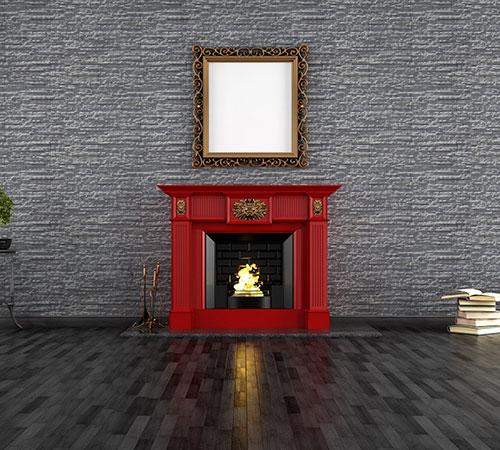 Dune Gray Fireplace