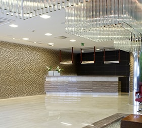 Hotel Reception Delos Beige mathios stone