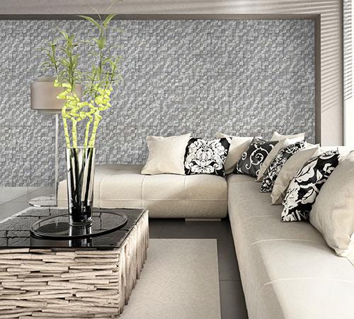 Delos White Living Room