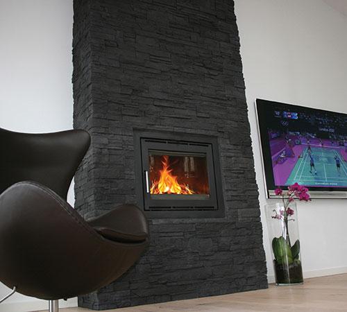 Highland Black Fireplace