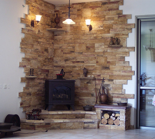 Highland Blend Rusty Fire Place