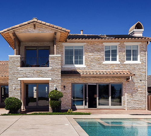 Mathios Stone Residential with Isola Champagne