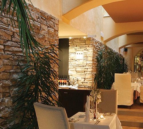 Mathios Stone Restaurant with Isola Gold