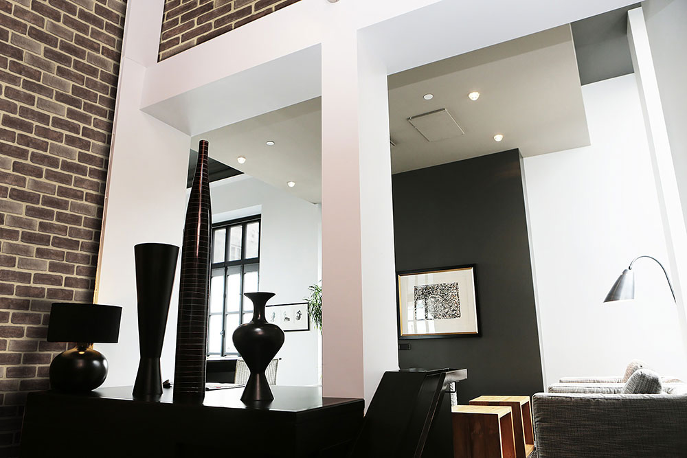 Masterbrick Brown Modern Living Room