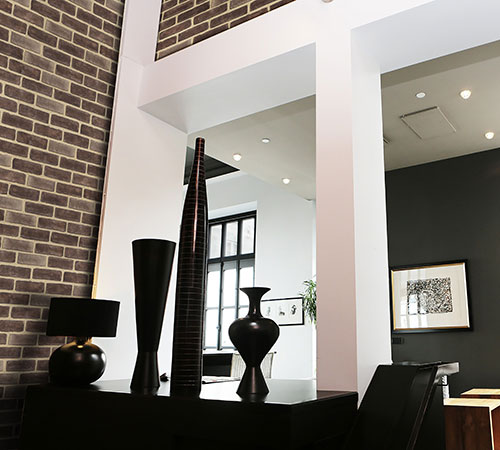 Masterbrick Brown Modern Living Room