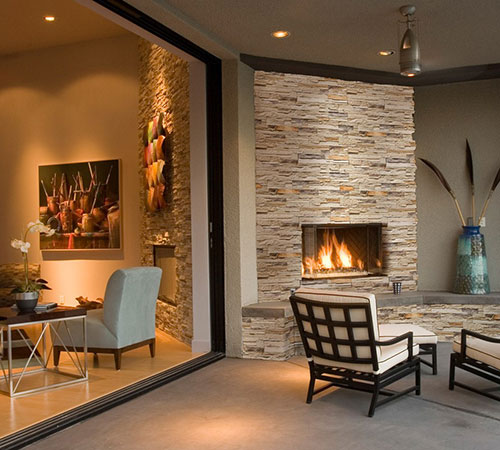 Sierra Cream Fireplace