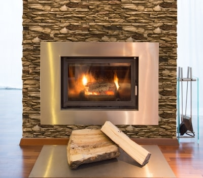 Fireplace with Cordillera Earth