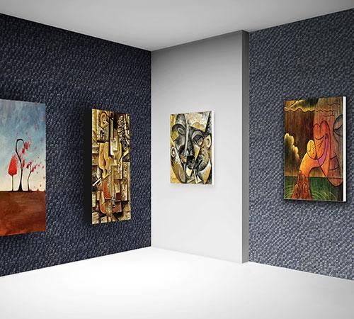 Delos Gray & Black Gallery Interior