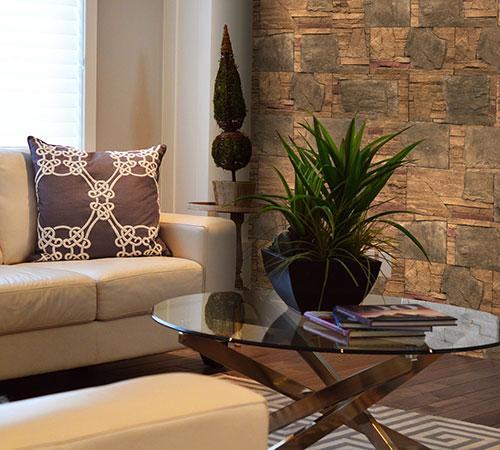Highland Blend Gold Living Room