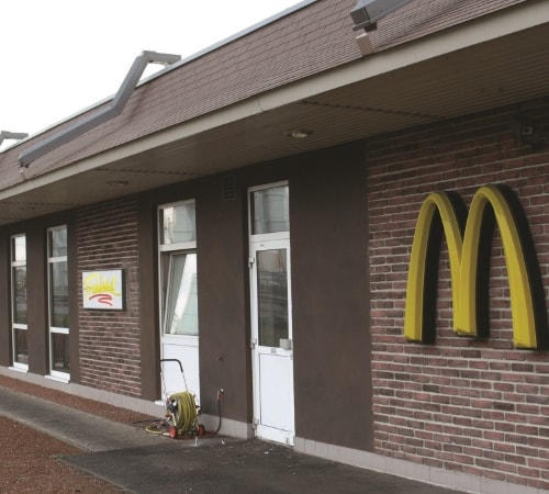 McDonalds Restaurant with Masterbrick Dark Red by Mathios Stone