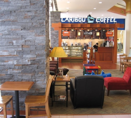 Caribou Coffee Shop Gulf Countries with Sierra Gray by Mathios Stone