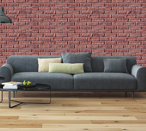 Masterbrick Red Tarnished Living Room