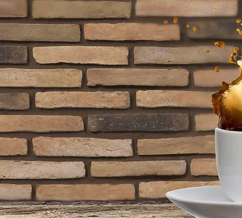 Colonial Brick Amber Coffee Advertising