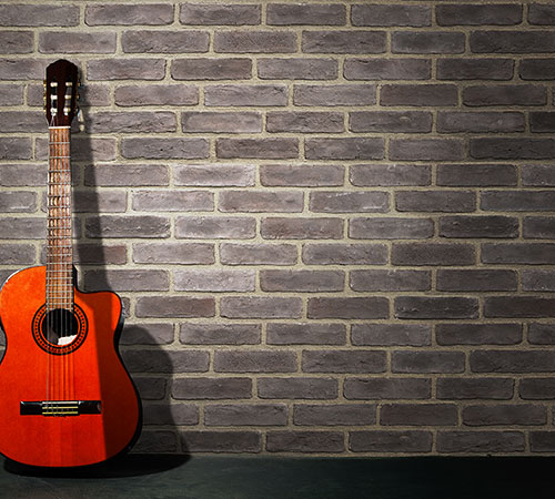 Masterbrick Gray Decoration with Guitar