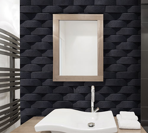 Bathroom Atlas Black mathios stone