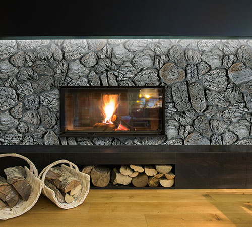 Terra Gray Fire Place