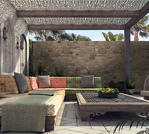 Arcadian Exterior in Arab Garden