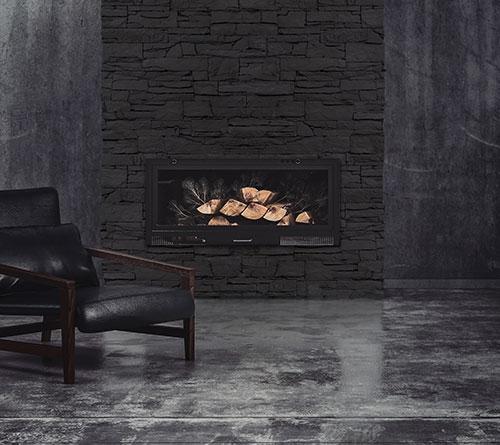 Isola Black Fireplace