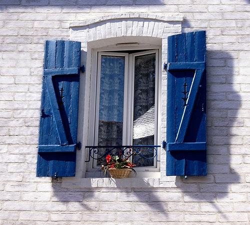 Master Brick White Exterior Blue Window