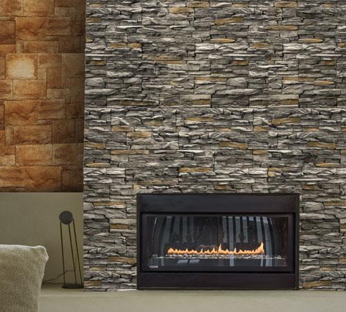 Cordillera Gray & Alamo Champagne Fireplace