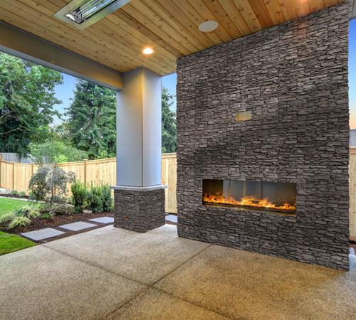 Cordillera Lava Fireplace Exterior