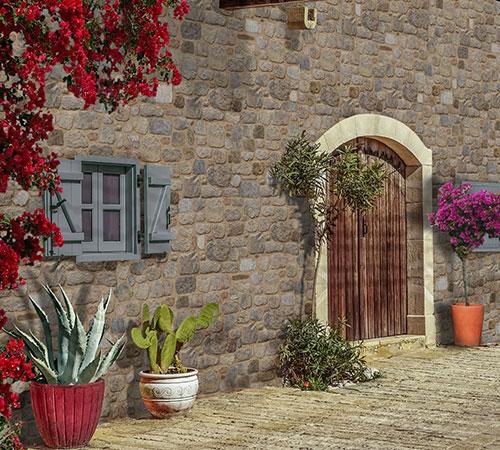 Arcadian altes Haus außen